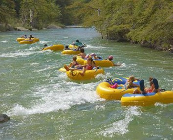 tubing on river